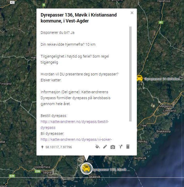 Dyrepasser 136, Møvik i Kristiansand kommune, i Vest-Agder