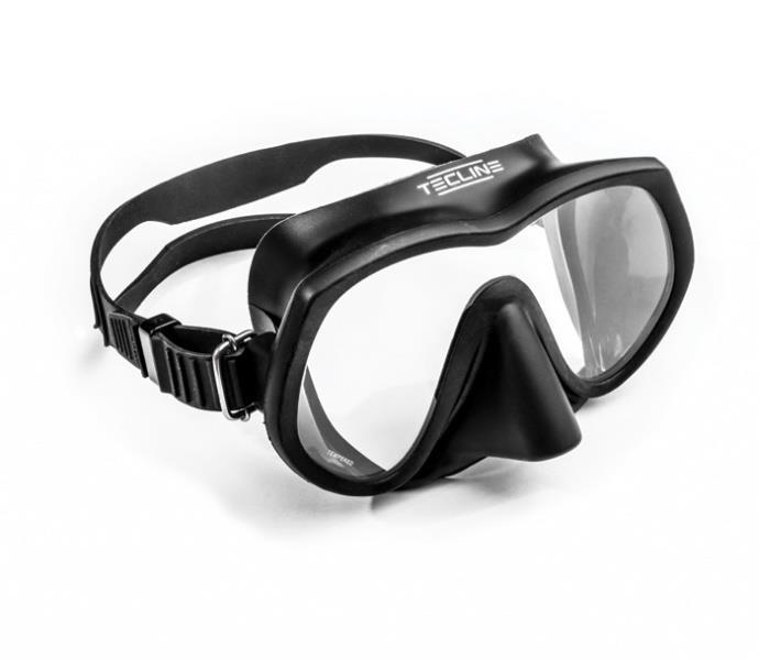 Maske Tecline Frameless Super View Svart
