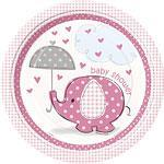 Engangsfat Baby Shower Lys Rosa 8stk