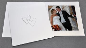 Bröllop 11x11 isvit med tryck