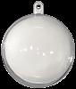 Akryylipallo 40mm, avattava kirkas 5kpl