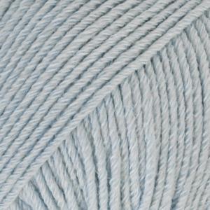 Cotton Merino Isblå