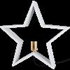 Julstjärna på fot Lysekil vit 47cm Star Trading