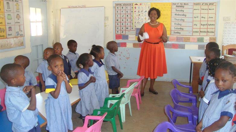 Kibera Nursary School - class 3