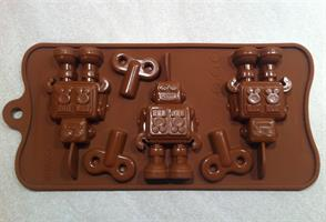 Silikonform Robot m/nøkkel