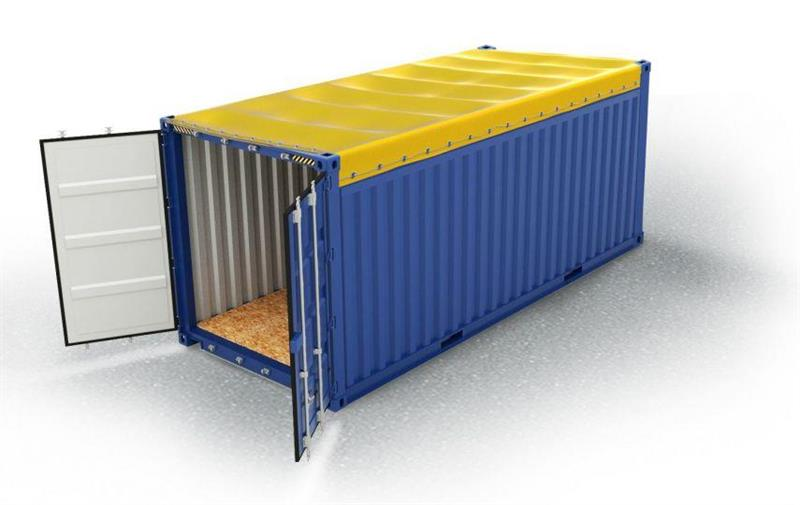 20 fot open top container