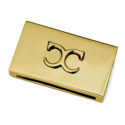 Classic Collection Match Box Case Monogram,  Brass
