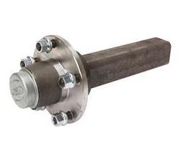 Axeltapp obromsad 1 ton  45x45mm Merc Art.nr: 617432