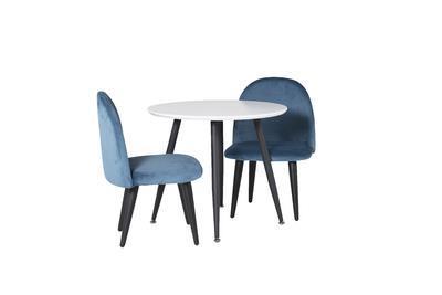 Plaza bord ø60 XXS vit/svart