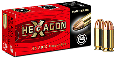 Geco .45 ACP  JHP Hexagon 200 gr (50st)