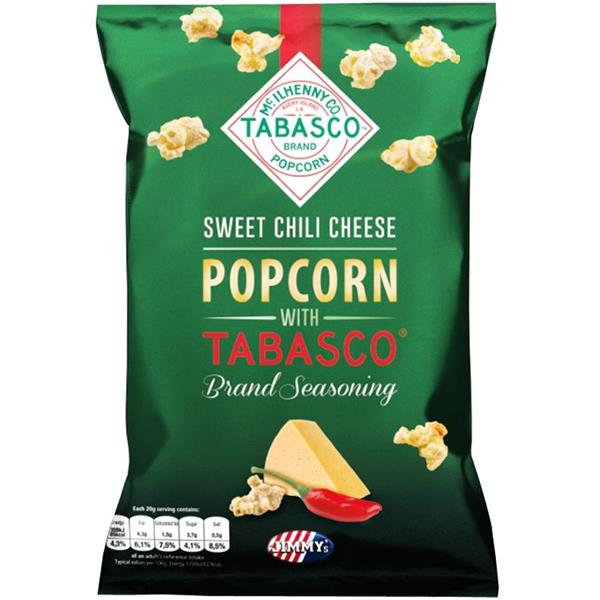Jimmy's Popcorn Sweet Chili Cheese with Tabasco 90g
