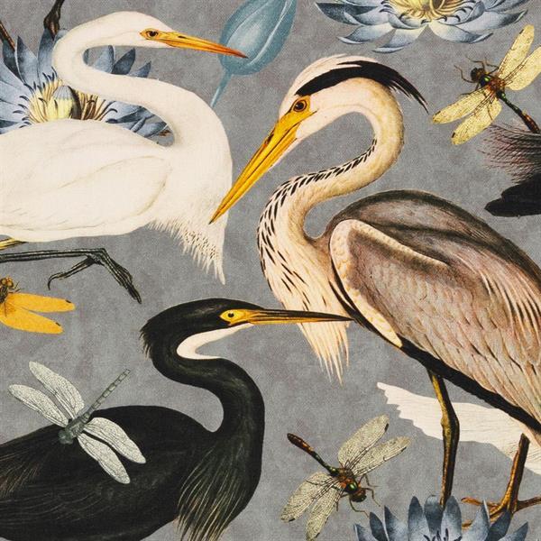 Tiffi, linen like, cranes