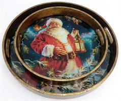 Christmas Man rundt brett, sett med 2
