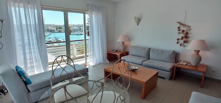 Exempel på vardagsrum i lägenhet för 2 pers