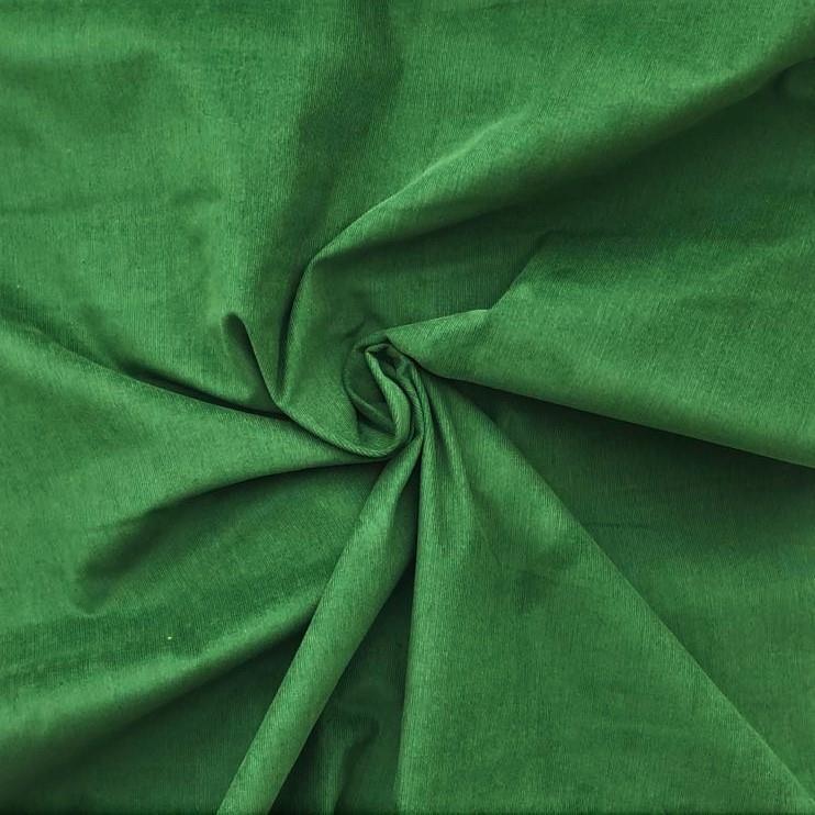 Kordfløyel, smal strp. grønn