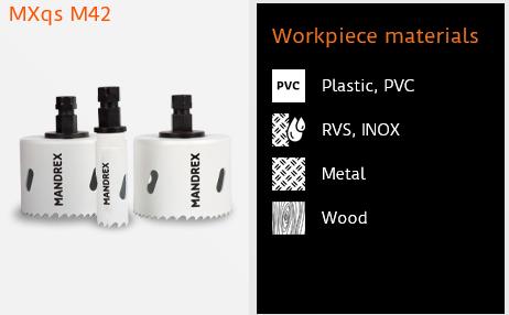 Hålsågskit MXqs - Industri - Bi-metal SpeedXcut M42