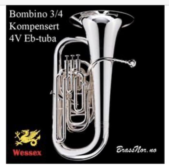 Wessex Eb Tuba 'Bombino' P 3/4 - kompensert - sølv