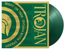 RIGHT ON TIME-TROJAN ROCK STEADY-GREEN 2LP