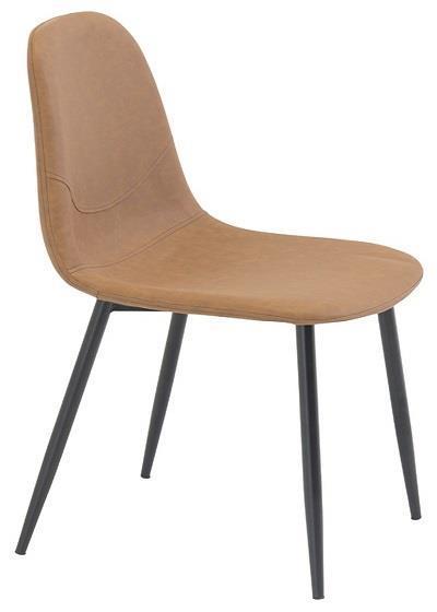 Polar matstol brun PU/svart