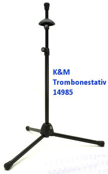 K&M trombonestativ, svart