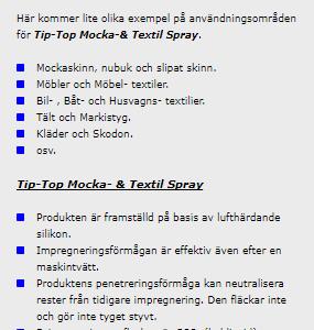Mocka- & Textil Spray 185 ml