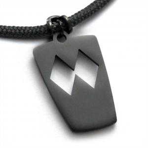 Halsband Double Black Diamond, Svart