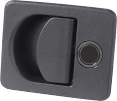 Luukunlukko musta täydellinen, 140x80mm  sisältää myös takaosan KUBUS