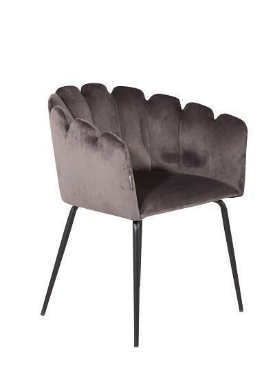 Limhamn stol grå sammet