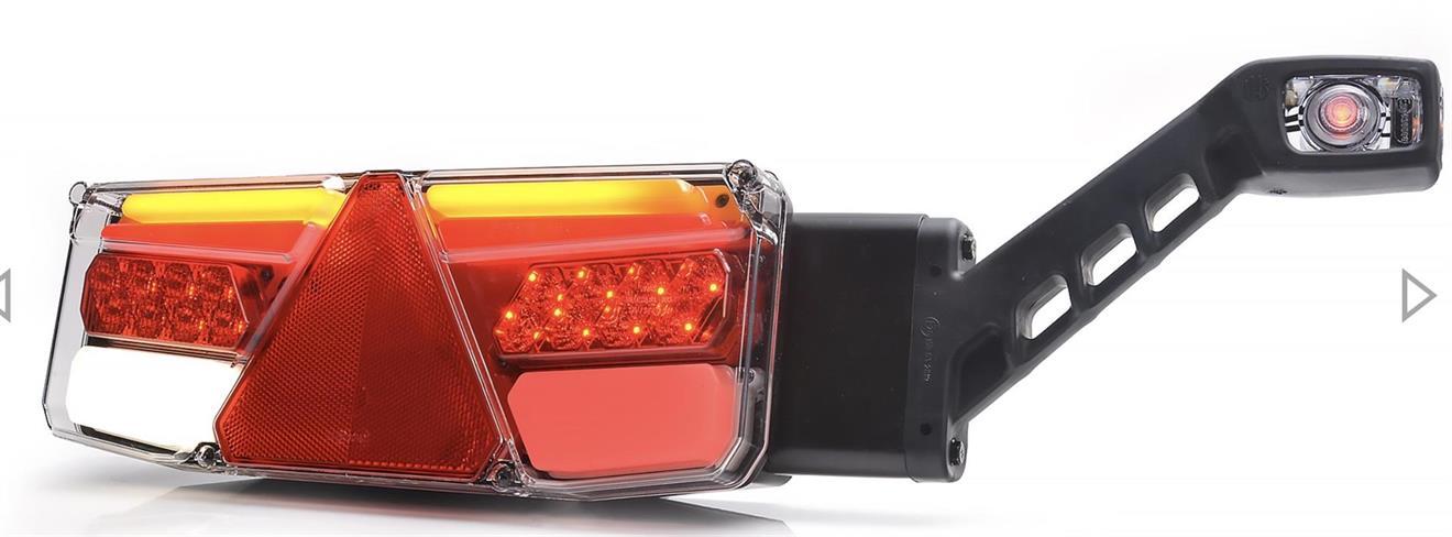 LED-TAKAVALO 350*131*81mm LIUKUVILKULLA KOLMIOHEIJASTIMELLA OIKEA KUMIVARSIVALOLLA 2M KAAPELILLA