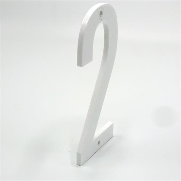 Husnummer: 500mm, hvit akryl