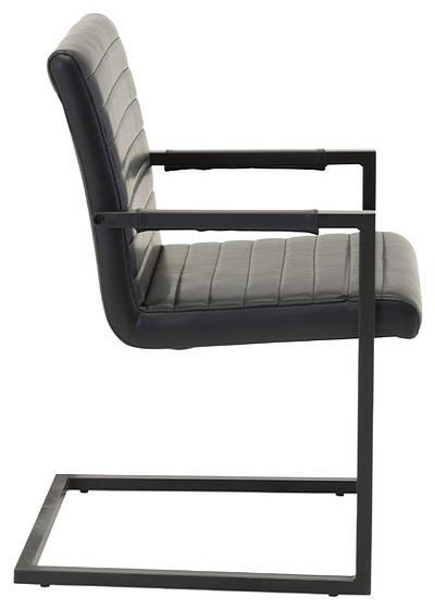 Art karmstol svart PU/svart
