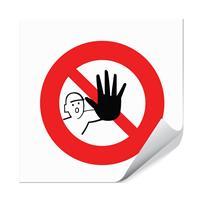 Adgang forbudt - 10x10cm