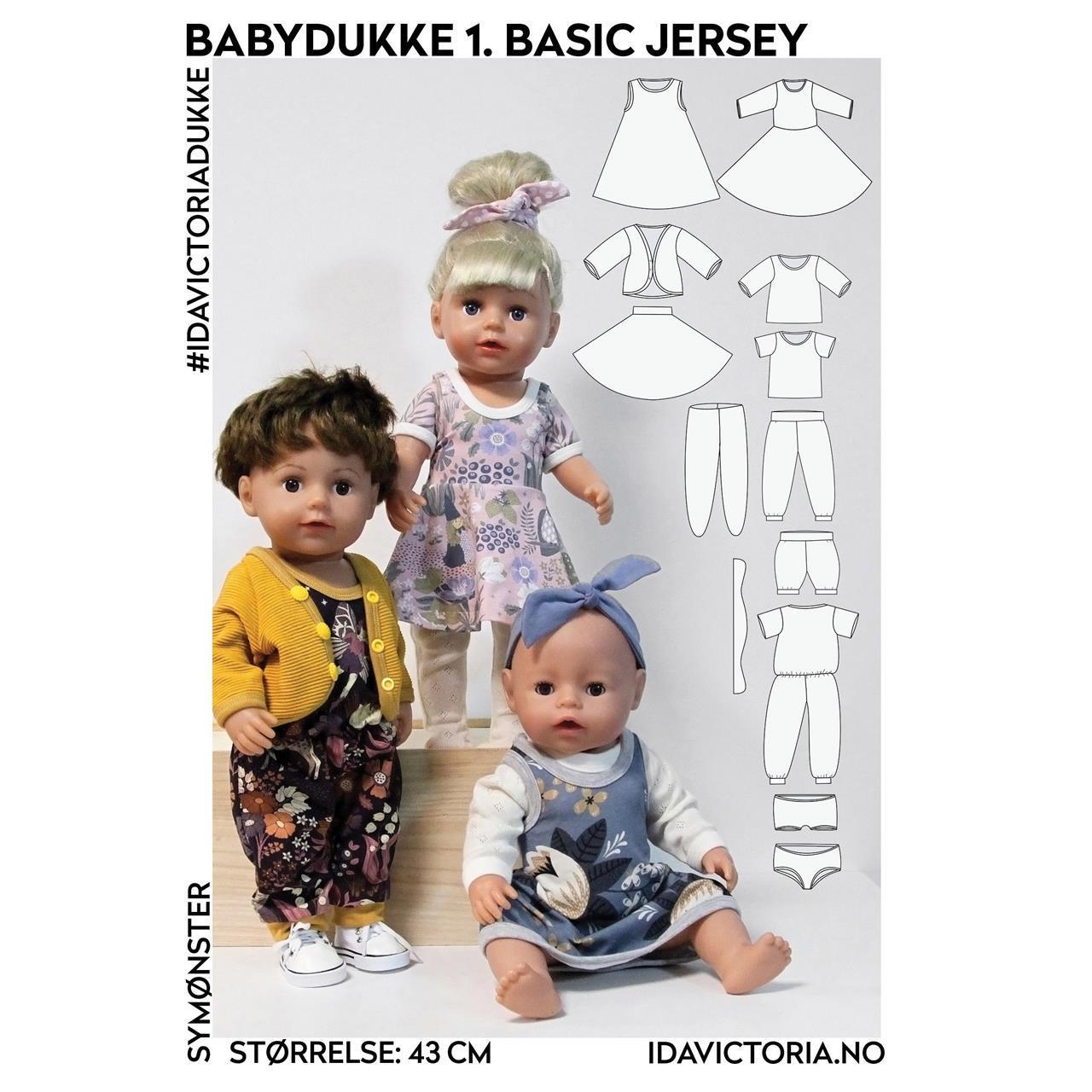 Sy til babydukke – 1. Basic jersey
