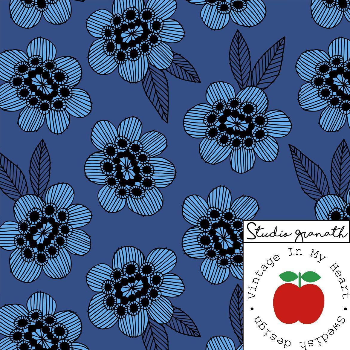 Jersey Gilby Blomma blå