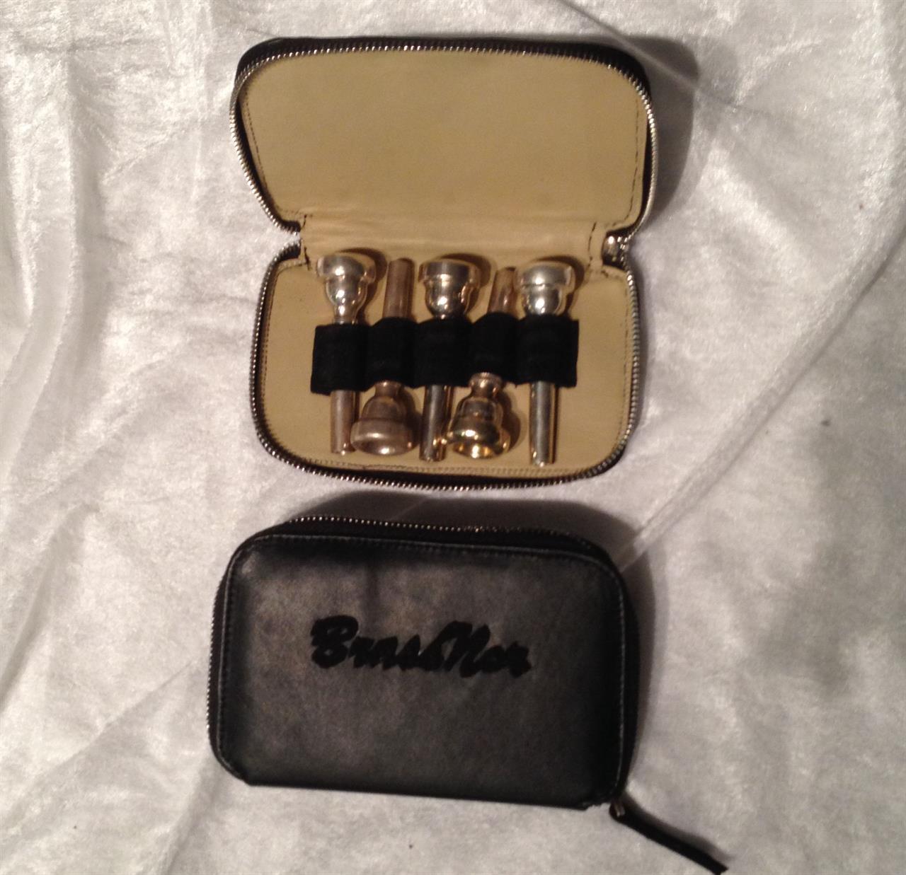 BrassNor munnstykkeetui x 5, skinn