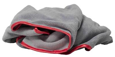 Mikrokuituliina, harmaa-puna - Microfiber Towel Grey-Red 50x50cm, (48gr)
