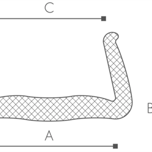 36st Karmskydd 2m x 80-100mm
