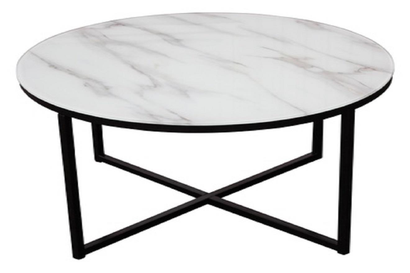 Rock soffbord svart/marmor