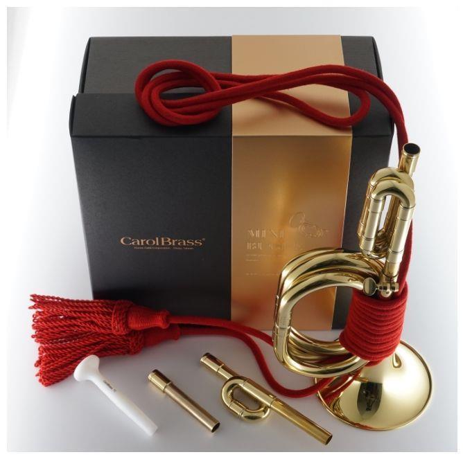 CarolBrass Mini C+Bb+G  signalhorn i gaveeske
