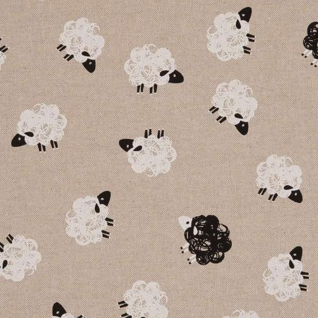 Emil, linen like sheeps beige
