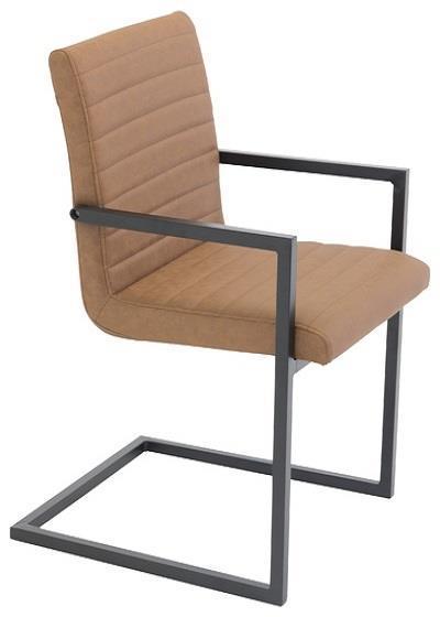 Art karmstol brun PU/svart