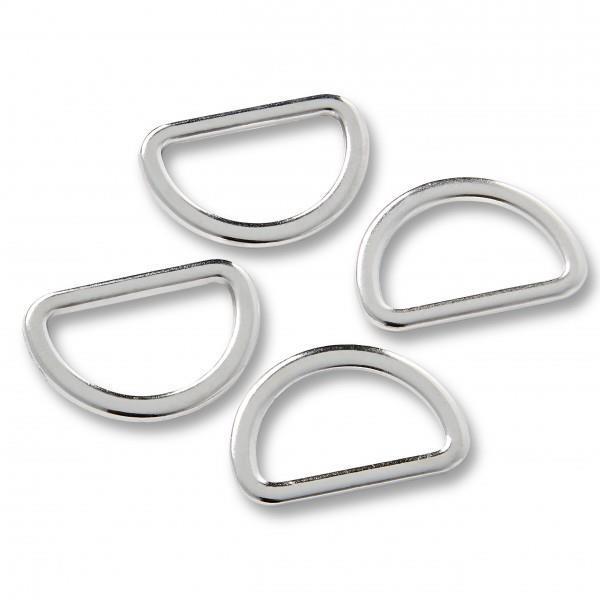 D-ringer – Sølv - 25mm