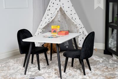 Velvet stol XXS svart sammet