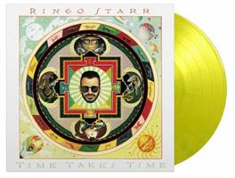 STARR RINGO: TIME TAKES TIME-YELLOW & GREEN MARBLED LP