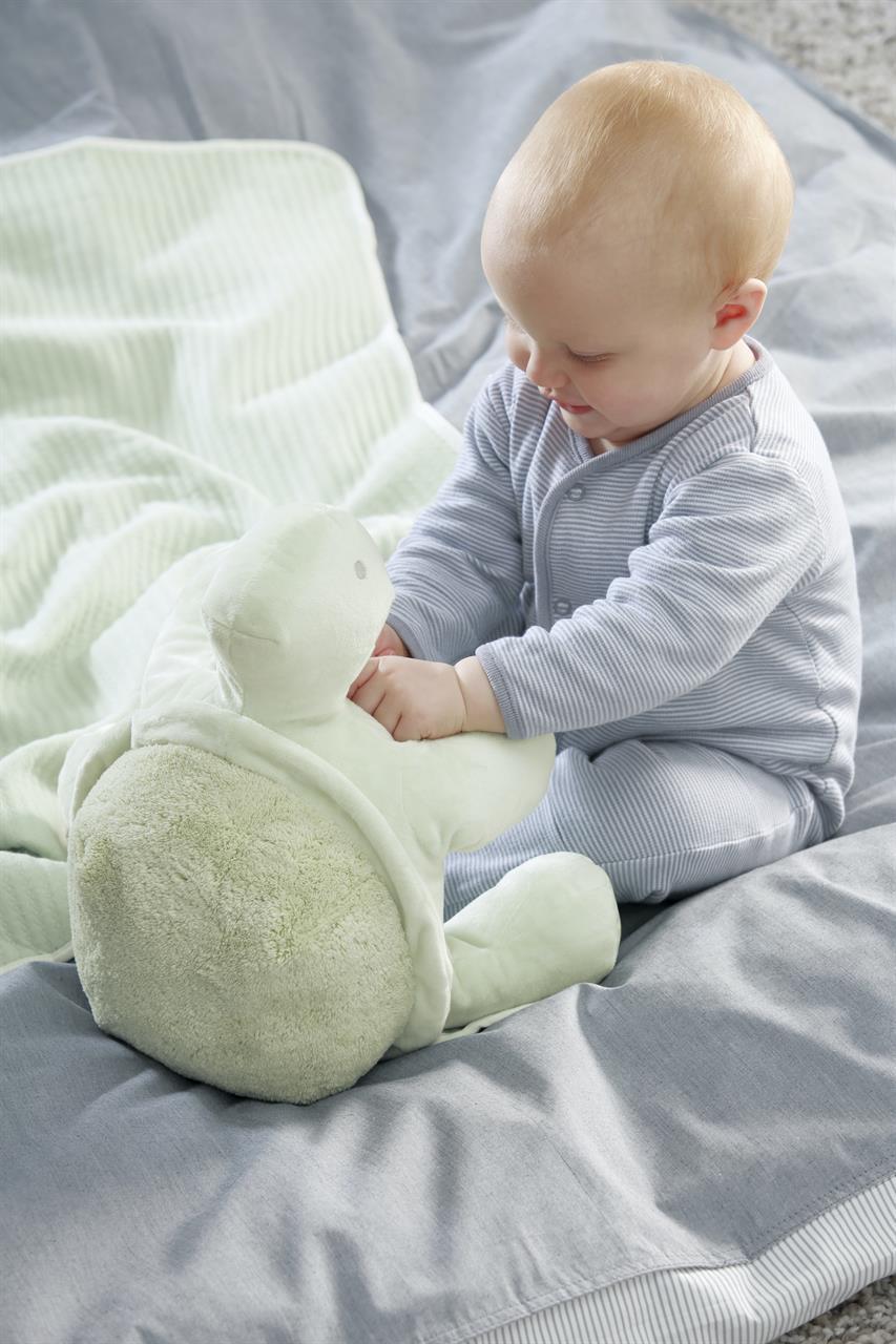 Speedy Babyfilt med mjukisdjur ljusgrön