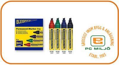 Permanent Marker 4-12mm Svart