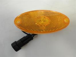 Äärivalo led sivulle keltainen LMC-liittimellä pit.100mm, lev 45mm, kork, 12mm