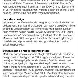 Janome: Memory Craft 550e