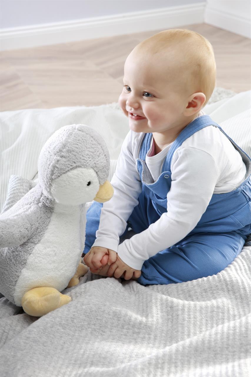 Donni Babyfilt med mjukisdjur ljusgrå