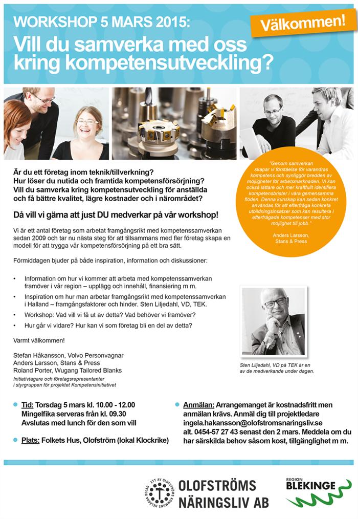 Workshop 5 mars: Vill du samverka med oss kring kompetensutveckling?